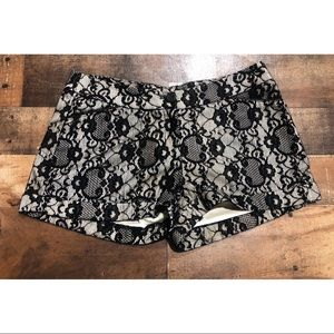 Do & Be Nude Black Lace Shorts